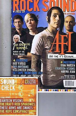 AFI / MY CHEMICAL ROMANCE / IRON MAIDEN Rock Sound + CD no. 89 Oct 2006