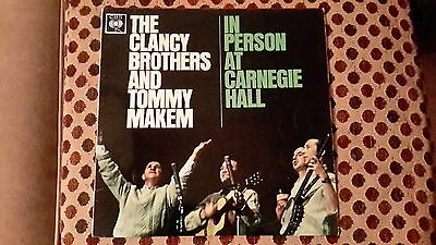 The Clancy brothers and Tommy Makem 'In Person at Carnegie Hall' CBS vinyl lp