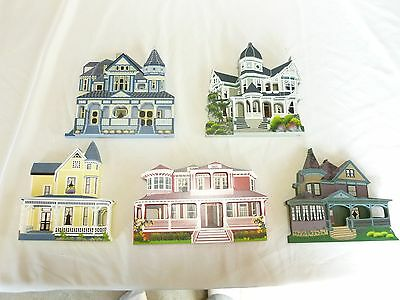 Sheila's Collectible Houses - Set of 5 - NR, Victoria, Brehaut, Urfer, Ray Home