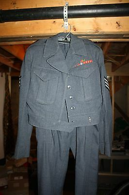 1950s Sergeant RCAF Air Force Tunic and Trousers