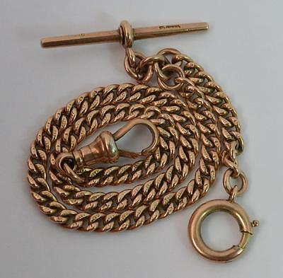 Victorian 9ct Rose Gold Curb Link Pocket Watch Chain and Bracelet t0798
