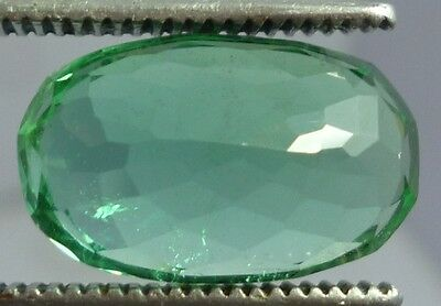 wow huge 11 cts green kunzite oval cut Flawless for Ring/Pendent  16x12x8 mm NR$