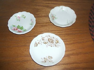 3 Vintage Butter Pats-- Johnson Bros Co/ Hanley
