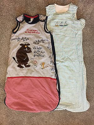 2 X Baby Sleeping Bags. Gruffalo 12-18 Months And M & S 6-18 Months