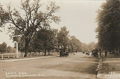 RP Postcard. Old Bus, South Side of CLAPHAM COMMON.