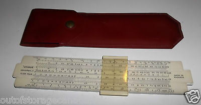 Unique Universal I Slide Rule With Case Made In England