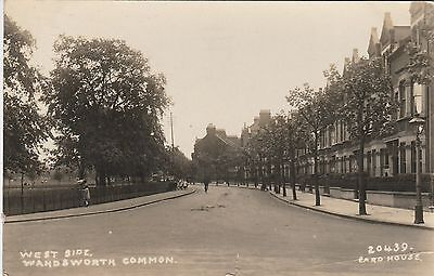 RP Postcard. Street Scene. WANDSWORTH COMMON. Posted 1929.
