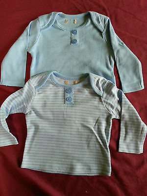 Job Lot Of 8 Packs Of 2 Baby Boys Long Sleeved Tops Age 0-3 Months