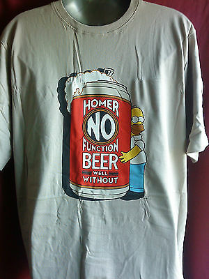"Job Lot Of 6 Mens Homer Simpson  ""no Beer No Function"" Tshirts In Packaging"