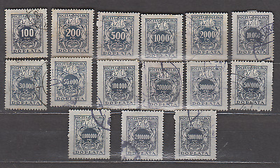 Poland 1923 Postage Dues Used Selection To 3 Million