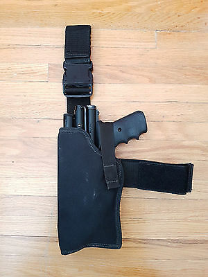 "Left Handed Paintball Drop Leg Pistol Holster ""Cops 911"" for Sheridan PGP"
