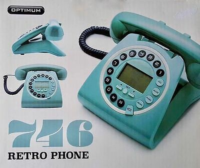 New 746 Retro GPO  Vintage Style Work / Home Phone With Caller ID-TEAL-TURQUOISE