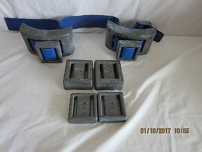 Sea Pearls scuba lead hard weights for dive belt - 38lbs. FREE SHIP! lot blue