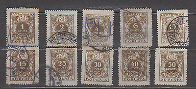 Poland 1924 Postage Dues Used Selection
