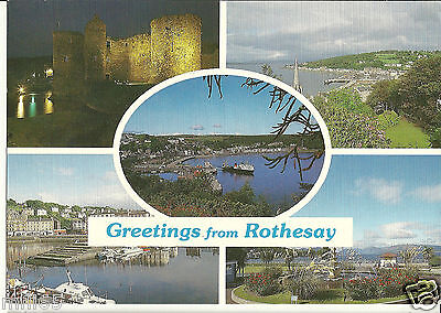 Postcard - Greetings from Rothesay (Various Views) - Posted