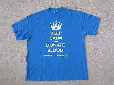 KEEP CALM AND DONATE BLOOD T-Shirt Unisex Adult XL Extra Large NEW WITHOUT TAGS