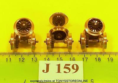 J159 jouef new spares 6x wheeled/geared axles spoked application unknown