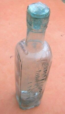 Antique/Vintage Stoppered Green Glass Brand & Co Mayfair A1 Sauce Bottle. Empty.