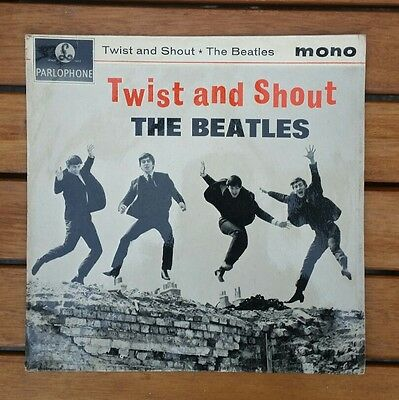 THE BEATLES Twist And Shout single MONO EP original 1963  pic sleeve super issue
