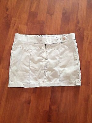 Ladies Next Stone/Beige Maternity Short Skirt Sz10 Moleskin Style