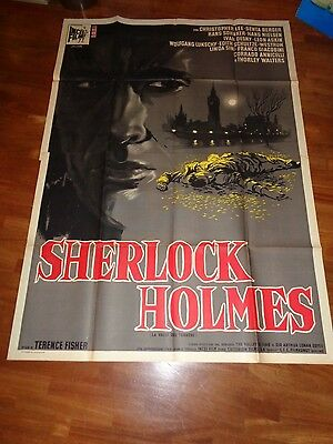 manifesto,4F,Sherlock Holmes,Valle del Terrore Terence Fisher. Christopher Lee