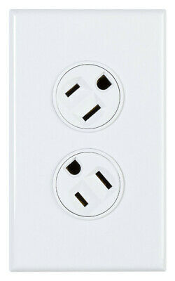 360electrical Rotating Duplex Outlet - White