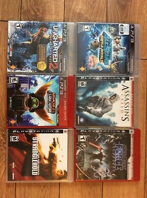 Star Wars PS3 Lot Ratchet Clank Uncharted 2 Video Game Assassins Creed
