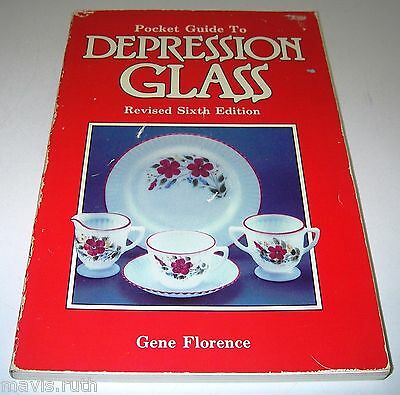 BOOK Pocket Guide to Depression Glass Sixth Gene Florence w Prices 1891453814
