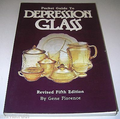 BOOK Pocket Guide to Depression Glass 5th by Gene Florence w Prices 089145344X