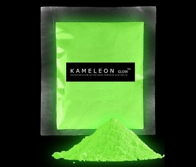 50G (YELLOW/GREEN) GLOW in the Dark Pigment Powder for Arts and Crafts Etc.