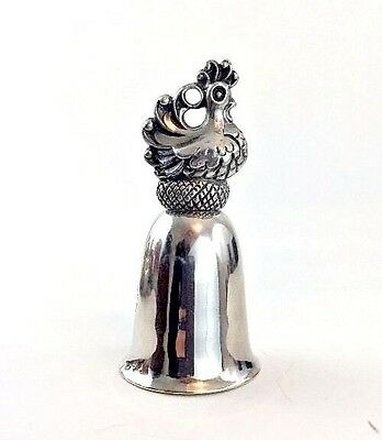 Reed & Barton 12 Days of Christmas Figural Silver Bell Ornament French Hens Bird