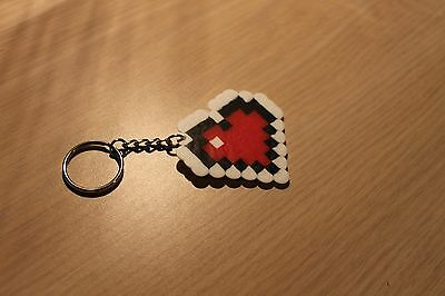 Single Heart Container Pixel Art Bead Sprite from the Legend of Zelda
