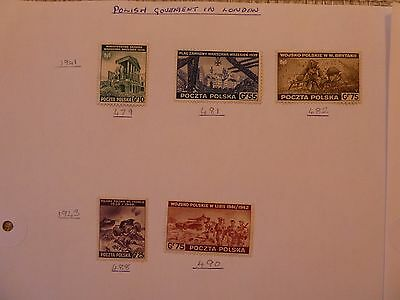 Poland Government in London & German Occupation 16 stamps