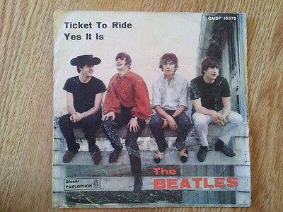 The Beatles Ticket To Ride - Yes It Is - QMSP 16381 disco 45 giri - VEDI FOTO