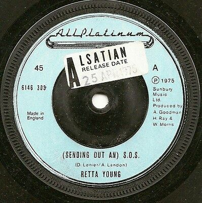 "Retta Young ""(Sending Out An) S.o.s."" All Platinum Demo 6146 305 (1975) 25.4.75."