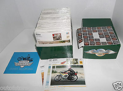 Atlas Editions Motorcycle Cards 42 Packs Sealed 1 Open - Great For A Collector