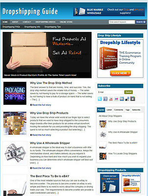 Dropshippers Guide Website For Sale With Uk Affiliate Store & Banners + Hosting