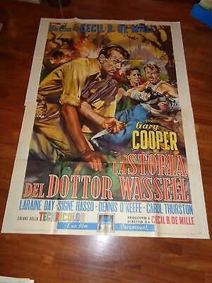 manifesto,1955,La Storia del dottor Wassell,The Story of Dr.Gary Cooper,DeMille