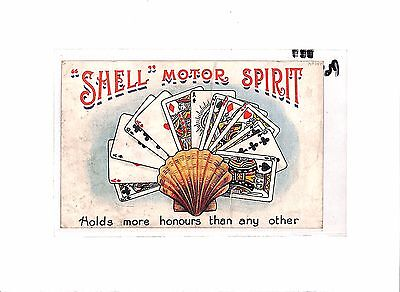 P641 GB Advert Postcard SHELL Motor Spirit 'Holds more honours than any other'