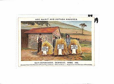 P601 GB Advert Postcard. Kainit and Potash Manures.