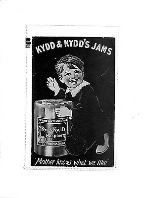 P649 GB Advert Postcard KYDD & KYDD'S JAMS 'Mother knows what we like'