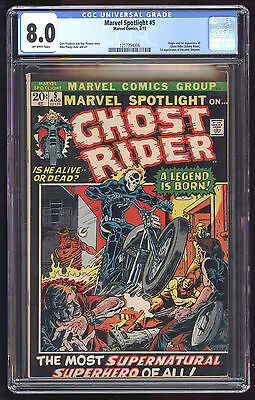 Marvel Spotlight (1971) #5 CGC 8.0 OW Pages 1st App Ghost Rider Friedrich Ploog