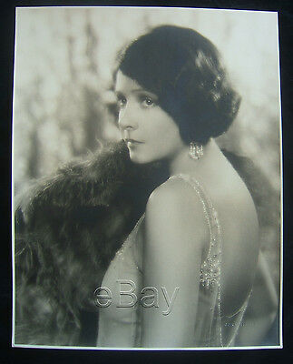 "Original 1920s NORMA TALMADGE oversized double weight 10.5  x 13.5"" JOHN MIEHLE"