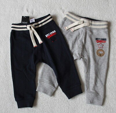 ***BNWT Next baby boy Slim Grey/Navy joggers trousers 2 pack set 9-12 months***