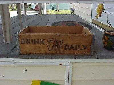 7up wooden crate 1973