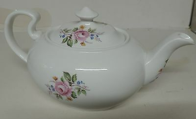 Tea Pot.unmarked.oval Shape With Beautiful Floral Pattern.unused.