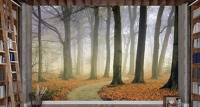 The Winding Path (Color) 12' x 8' (3,66m x 2,44m)-Wall Mural