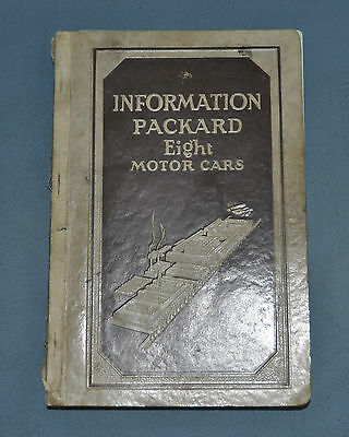 Information for Packard 8 Eight Motor Cars Owner's Manual 1931 826 833 840 845