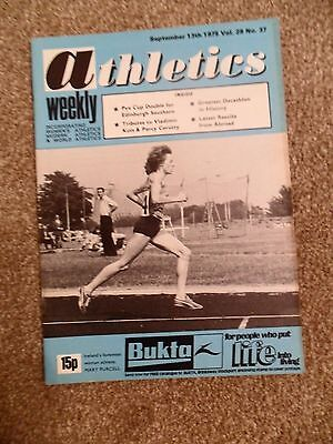 Vintage Athletics Weekly Mag #37,Sept 13th 1975. Percy Cerutty, Mary Purcell