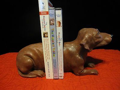Heavy, Painted Dachshund Wiener Dog Bookends Animal Collectible